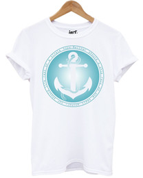 sailing shirts Coupons - Anchor Sail T Shirt Summer Holiday Ship Mens Mans Unisex Fashion Nautical Size Discout Hot New Tshirt Cattt Windbreaker Pug Tshirt
