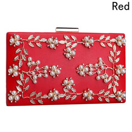 white flower purse Promo Codes - Fashion Ladies Clutches New Women Flower Bag Party Bags Female Beaded Wedding Clutch Purses