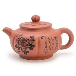 Жемчужная глина онлайн-Китайский Yi Xing Zisha чайника, Джин Ю Человек Тан Фиолетовый Клей чай горшок, ручной Исин Zisha чайника