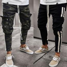 Pantaloni che lavorano uomini online-Pantaloni da uomo Casual Pantaloni da lavoro Camouflage Pantaloni Cargo Camo Pantaloni laterali Hip Pop Pantaloni Plus Size S-3XL