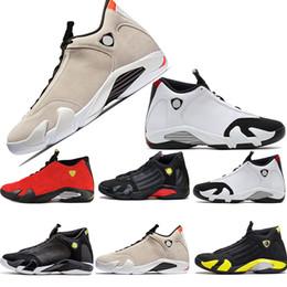 huge discount 4f7af 77878 kühlboxen Rabatt Qualität 14 14 s Schwarz Toe Fusion Varsity Rot Wildleder  Donner Männer Basketball Schuhe