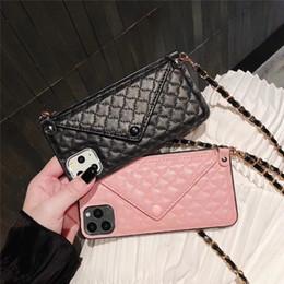 2019 giù iphone Per il nuovo iPhone 11 Caso telefono Designer Pro Max per iPhone XR / XS Max 7/8 Inoltre copertura posteriore del telefono con la carta di Wristband antiurto busta di copertura