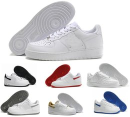 Donne superiori a taglio basso online-Nike Air Force one 1 Af1 Sconto del marchio One 1 Dunk Uomo Donna Flyline Running Shoes, Sport Skateboarding Ones Scarpe High Low Cut Bianco Nero Outdoor Sneakers da ginnastica