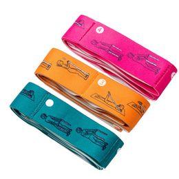 Cinghie elastiche rosse online-Cintura elastica per yoga Danza elastica Fasce di resistenza Barra elastica Cinture elastiche Popolare Alta qualità con colori verde rosso giallo ZZA754