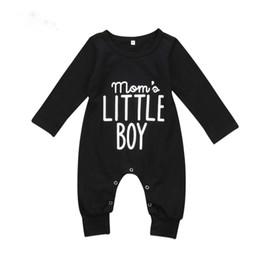 Argentina Nueva moda de moda para bebés recién nacidos para bebés bebés mameluco mono de manga larga traje de Little Boy trajes negro ropa Suministro