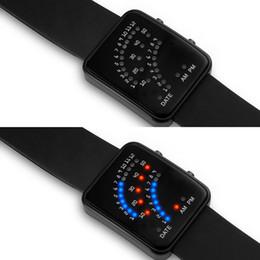 Deutschland Droppshiping LED Elektronische Armbanduhr Sektor Binäre Digitale Wasserdichte Mode Unisex Paar Uhren BFJ55 supplier binary watches waterproof Versorgung