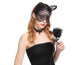 Fantastische Party mit sexy Womens Sexy Lace Schleier Maske schwarzer Spitze Augenmaske Sexy Maskerade Party Mask Haarband Haarband Halloween von Fabrikanten