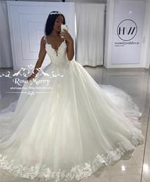 vestido de novia moderno en capas de tul Rebajas Vestido de bola de la princesa cordón de la vendimia vestidos de novia 2020 Apliques lentejuelas con cuentas más del tamaño Vestido de novia Gelinlik Trouwjurk Vestidos de novia