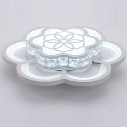 Moderna Crystal LED Camera da letto Corridoio Plafoniera Bianco Acrilico Fiore Balcone Lampada da soffitto Portico Lampada da soffitto da illuminazione del balcone fornitori