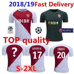 2019 kits de uniforme de fútbol verde AS Monaco Soccer Jersey 2018 19 Local  Rojo c6a87d2976f36