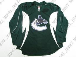8459702dd Cheap custom VANCOUVER CANUCKS GREEN TEAM ISSUED PRACTICE JERSEY stitch add  any number any name Mens Hockey Jersey XS-5XL inexpensive vancouver canuck  ...