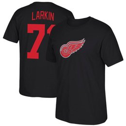 Camisas das asas on-line-Número 71 Barry Larkin Femininos Red 40 # Henrik Zetterberg Detroit Red Wings Hockey Jerseys Marca Esporte T-shirt dos homens curta camisa estampada Logos