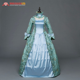 2020 vesti victoriani Gothic periodo medievale rinascimentale abiti del Victorian Abito Antico stampa floreale abito Princess Theatre Abbigliamento sconti vesti victoriani