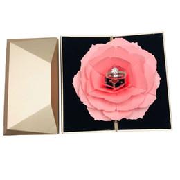Faltbare Rose Ring Box Für Frauen 2019 Kreative Jewel Lagerung Papier Fall Kleine Geschenkbox Für Ringe von Fabrikanten