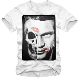 t shirts marilyn monroe Coupons - 2019 T-SHIRT STEVE McQUEEN SKULL JAMES DEAN ELVIS MARILYN MONROE 1530c Sporter T-shirt Fear Cosplay Pride Dark T-shirt