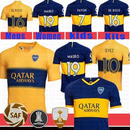 valencia casa cf Desconto Boca Juniors Soccer Jersey Tevez 10 MARADONA MAURO # camisa 19 de futebol Abila REYNOSO DE ROSSI Pavón Benedetto Cardona Gago Maillots de pé