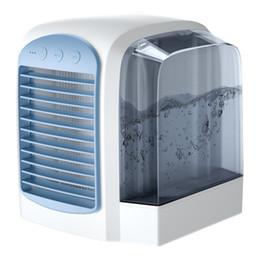 вентиляторы для кондиционирования воздуха Скидка Новый вентилятор водяного охлаждения настольный мини-кондиционер вентилятор офисный вентилятор охлаждения дома