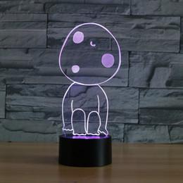 Leichte geschenkbilder online-7 Farben Ändern Atmosphäre Tischlampe Home Schlafzimmer Dekor Nachtlichter 3D Cartoon Bild Modellierung Led Baby Schlaf Beleuchtung Geschenke