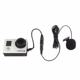 Micro caméra en Ligne-3.5mm Actif Clip Microphone avec Mini USB Adaptateur Audio Câble Pour Gopro Hero 3 3+ 4 Action Camera iPhone 5s Kit d'accessoires