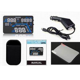 trattore digitale universale per auto Sconti Per Q7 5,5 '' Universal Car GPS HUD Digital Head-Up Dash Screen Display Speed Alarm Instrumentos de GPS HUD velocidad de 3.13