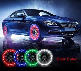 luzes de roda auto Desconto Carro-Styling Acessórios Do Carro Auto Roda Hub Pneu Cor Solar LEVOU Luz Decorativa de Energia Solar Flash Para Todos Universal Carros MMA1350 100 pcs