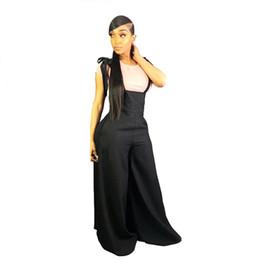 plus breite bein-overalls Rabatt Marke Designer Frauen Overalls Plus Size Weite Jumpsuit Strampler Einteilige Hose Schwarze Tasche Lässige Jumpsuit S-2XL 88