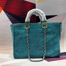 ouro dourado da bolsa Desconto Bolsas de grife Bolsas de Luxo Mulher Sacos de Moda de Alta Qualidade Villi Lona Fivela de Ouro Carta Carta Saco de Compras