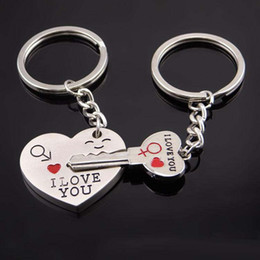liebe paar schlüsselketten Rabatt Ich liebe dich Herz Schlüssel Schlüsselbund Schlüsselanhänger Paar Schlüsselanhänger Modeschmuck für Frauen Männer liebt Geschenk