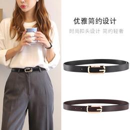 Ampie donne gialle cinture online-semplice designer 2.3 ampia alta qualità Cowskin pin Cinture a fibbia Slide moda donna g Cintura lunga 8 in pelle gialla
