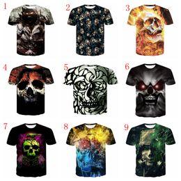 adrette stil kleidung männer Rabatt 27 Arten T-Shirt der Schädel-Männer große Jungen, die Shantou 3D beiläufige Art und Weisekurzschlusshülsen-T-Stücke Sommerkleidung drucken