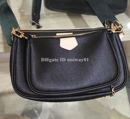 2019 marche di lusso italiane borsa in pelle di qualità delle donne più pochette trasversale del corpo della donna frizione borsa tre in uno di marca del progettista
