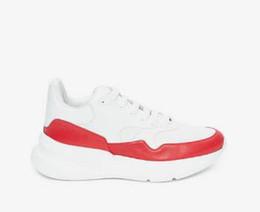 2019 Le Nouveau Mens Mode Femmes Casual Plateforme En Cuir Blanc Chaussures De Luxe Chaussures Dame Noir Rouge Rose Baskets Taille 35-45 j6 ? partir de fabricateur
