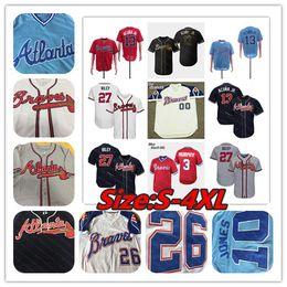 2019 Braves Jersey Atlanta Austin Riley Dallas Keuchel Dansby Swanson John Smoltz Charlie Culberson Sean Newcomb McCann Maddux Markakis Bambini da