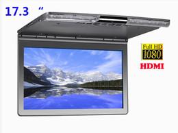 2019 auto armaturenbrett tvs Ultradünne neue 17,3 Zoll Halterung Flip Down für Auto 1080P HDMI FM IR USB SD MP5 Auto Dachhalterung LCD-Monitor
