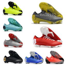 tacos de fútbol superflys Rebajas Mercurial Vapors Fury XII Elite FG 360 Tacos de fútbol para hombre de calidad superior 12 zapatos de fútbol CR7 Diseñador Botas de fútbol 39-45