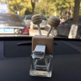 óleo de fragrância para difusor Desconto DHL livre clipe de Madeira 8 ML Carro Pendurado Perfume Espelho Retrovisor Ornamento perfume Refrogerador De Óleo Para Óleos Essenciais Difusor Fragrance-072401
