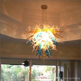 Hotel Residential Pendant Light Modern Murano Glass Chandelier Parts Simple Design Chandelier High Ceiling Decorative Lighting