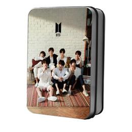 Argentina Tarjeta fotográfica Kpop BTS Polaroid Lomo Bangtan Boys 2018 Exposición Colectiva Jungkook Suga HD con caja de metal cheap lomo cards Suministro