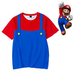 ab38a2457 2019 mario novo camisetas New Super Mario Bros Crianças Cool Ghost 3d  Camisetas Meninos Meninas Kid s