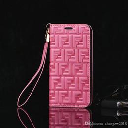 caso glitter lg Sconti Lussuoso marchio in rilievo lettera F flip portafoglio custodia in pelle cover per telefono cellulare per iphone Xs max Xr X 7 7plus 8 8plus 6 6plus con slot per schede