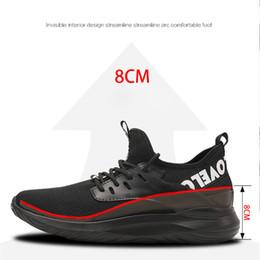 Стельки для увеличения роста онлайн-Лифт Обувь Высота Увеличение Обувь Мужчины Повседневная Мода Стелька Таллер 8 см Плюс Размер 36-43
