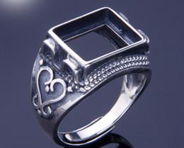10 * 12mm 925 STERLING SILVER Semi Mount Bases Blanks base en blanco Pad VINTAGE anillo de anillo de ajuste joyería hallazgos DIY A2241 desde fabricantes