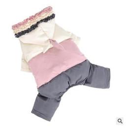 ropa de cachorro hembra Rebajas Cachorro de invierno impermeable ropa de abrigo para perros femeninos chaqueta de abrigo cálido mono cuatro piernas ropa para mascotas para perros XS-2XL