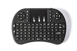 Mouse sem fio de lítio on-line-50 pcs Rii I8 Mini Teclado Air Mouse 2.4G Sem Fio Recarregável bateria de íon de lítio Controle Remoto para android TV BOX X96 TX3 mini