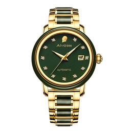 ad6e071a017e60 Top Brand Smaragd Hohl Automatische Wasserdichte Männer Stein Mechanische  Uhr Paar Uhren frauen Jade Uhr Relogio Masculino rabatt stein markenuhren