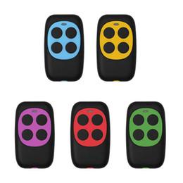 Controlador 433MHz colorido eléctrico da porta da garagem controle remoto Key Fob Clonagem Clone 4 Chaves Portão controlador de