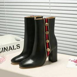 Vestido de lycra preto on-line-Ting2594 38202 Ankle Boots Retro acessórios de hardware Original - Black equitação botas de inicialização de chuva Booties Sneakers Dress Shoes