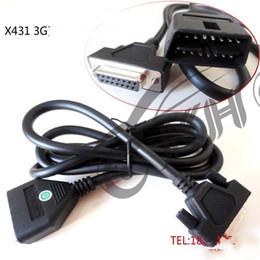 Lanzar x431 cable obd online-para el cable de prueba del cable principal CRP123 Creader VII + Creader VIII CRP129 OBD I II del lanzamiento X431 GDS 3G