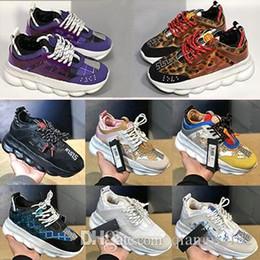 2019 amorevole abbronzatura Chain Reaction Love Luxury Designer Sneakers Chainz Tan Viola Rosa Bianco Macchiato Moda Donna Uomo Scarpe da ginnastica Taglia 36-45 amorevole abbronzatura economici