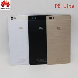2019 batería p8 La original para el caso de HUAWEI P8 Lite batería cubierta trasera de la puerta para Huawei P8 Lite vivienda de reemplazo + cámara de nuevo caso de la lente de cristal batería p8 baratos